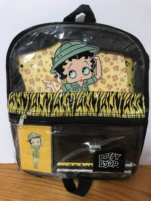 **BETTY BOOP BLOWOUT: Safari Betty Boop Backpack Unused LOOK BOaD-45