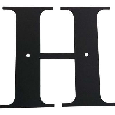Village Wrought Iron Letter H House Plaque, Large 19.94-inch, Black