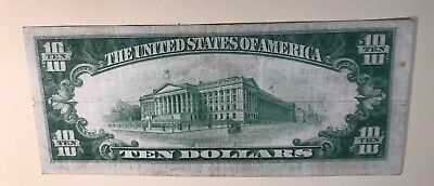 $10 National Currency Series Of 1929 Federal Reserve Bank Philadelphia Pa
