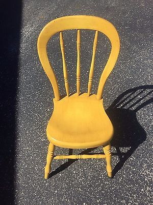 Vintage Tell City Chair Co. Farmhouse Chair # 89 Antique Yellow RARE