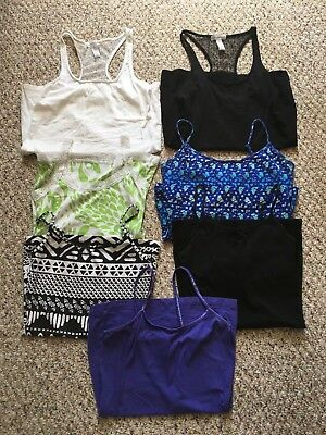LOT OF 7 JRS TANK TOPS CAMIS Wet Seal Lilu Route 66 sz S small 3-5