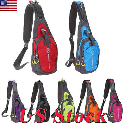 Sports Travel Men Women Nylon Sling Bag Backpack Crossbody Shoulder Chest Bag US