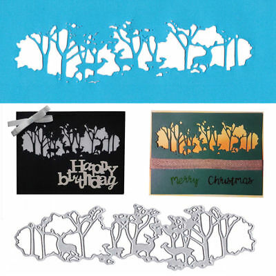 Forest Deer Cutting Dies Stencil For Scrapbooking Paper DIY Card Embossing Craft