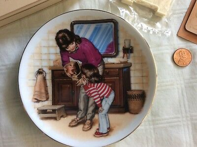 """Vintage Special Memories Plate """"A New Tooth"""" 1986 In Original Box"""