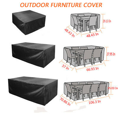 Waterproof Large Garden Rectangle Outdoor Furniture Cover Patio Table Protection
