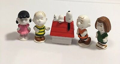 Peanuts 1966 Schulz 5 Figures Snoopy Charlie Brown Lucy Peppermint Patty Linus