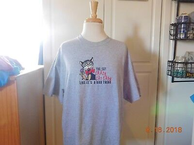 Crazy Cat Lady Embroidered T-Shirt Purfect Gift