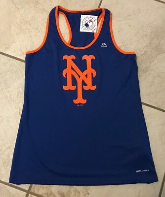 New York Mets Baseball Majestic Coolbase Tank Top Women's Large NWT
