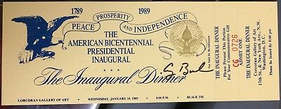 George Bush AUTHENTIC HAND signed Inaugural Ticket President