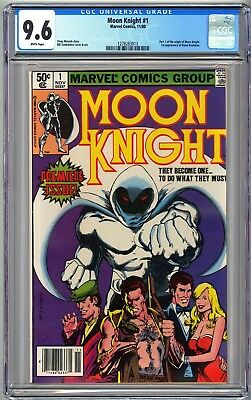 MOON KNIGHT #1 - CGC 9.6 - White Pages NM+ ORIGIN of Moon Knight