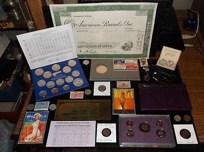 Coin Lot Coin Collection+Golden Dollar Set+Vintage JEWELRY+Proof Set+INDIAN COIN