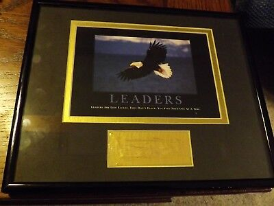 """Boy Scout Plaque """"leaders Are Like Eagles They Don't Flock Find One At A Time"""""""