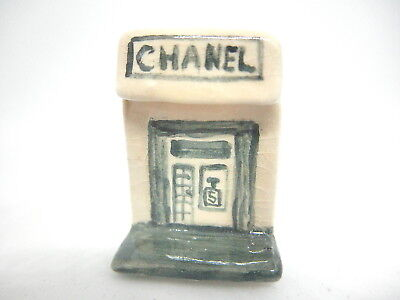Dollhouse Miniature French Chanel shop - hand made ceramic