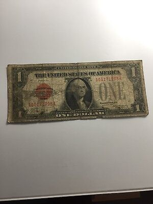 1928 Red Seal Puerto Rico $1 Atheist One Dollar US Note