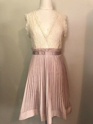 71f913c431 Forever 21 Love 21 Pleated Lace Dress Wedding Cocktail Party Size Small