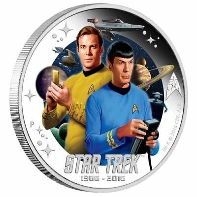 NEW Perth Mint - Star Trek Captain James T. Kirk and Spock 1oz Pure Silver Coin