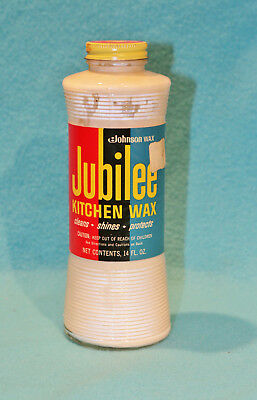 vintage johnson wax jubilee kitchen wax 14oz bottle 12 full collectors - Jubilee Kitchen Wax