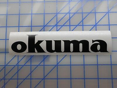 "Okuma Decal Sticker 5.5"" 7.5"" 11"" Fishing Rod Reel Spinning Makaira 50 80 Cedros"