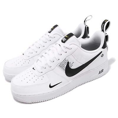 good out x many fashionable a few days away NIKE AIR FORCE 1 07 LV8 Utility White Black Yellow Men Shoes ...
