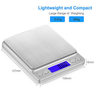 Kitchen Digital Scale LCD Electronic Balance Food Weight Postal Scales 0.01/500g