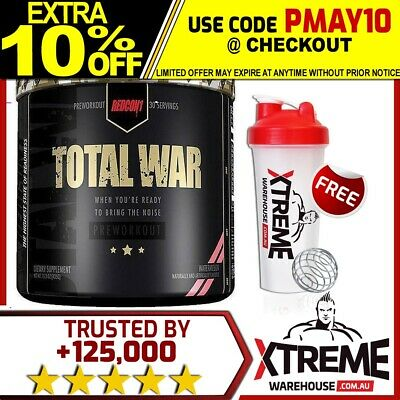 Redcon1 Total War V2 Pre Workout 30 Serves // Strong Energy Focus Redcon 1 Pump