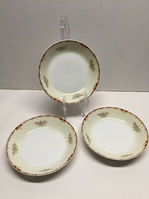 Meito China Hand Painted Salad / Soup Bowls Made in Japan Lot of 3