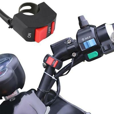 """New Motorcycle ATV Scooter 7/8"""" Handlebar Light Switch ON OFF Button Universal #"""