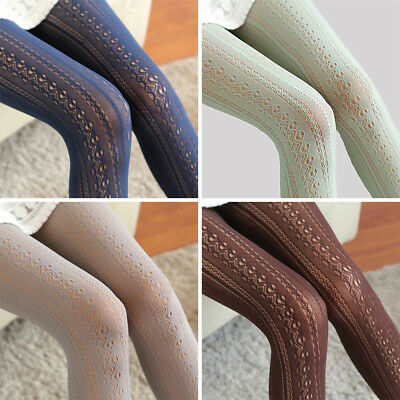 Women Pantyhose Socks Tights Fashion Fishnet Hollow Out Stockings Lace Sheer US
