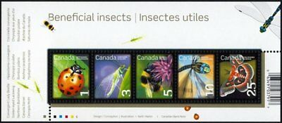 Canada Stamps — Souvenir Sheet of 5 — 2007, Beneficial Insects #2238a — MNH