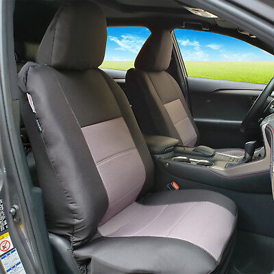 Black Grey Heavy Duty Waterproof Canvas Airbag Front Seat Covers Size 30