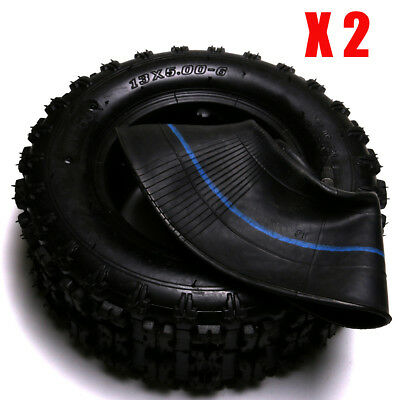 "2x 13x5.00-6"" Tyre Tire+ Inner Tube Set ATV Quad Bike Scooter Mini Buggy Mower"