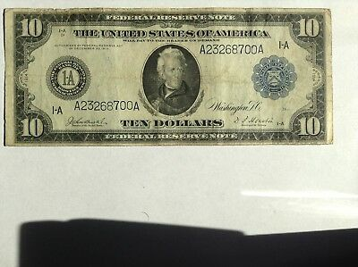 U.S. - Series of 1914 $10.00 Federal Reserve Note