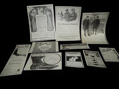 Antique Magazine Ads,LOT OF 10 COSMO, CLOTHING & FASHION, Boots,Socks,Maternity