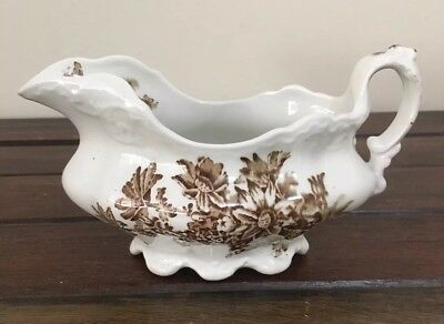 "Johnson Brothers ""Clifton"" Vintage Gravy Boat C 1913 Very Good condition"