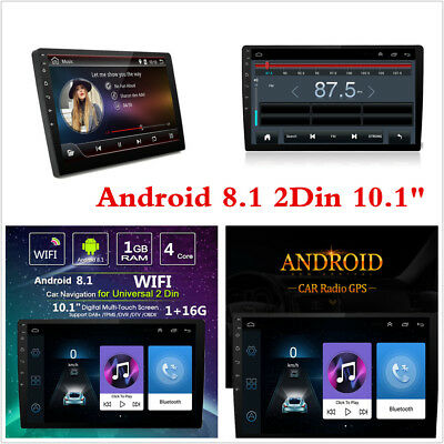 """Android 8.1 10.1"""" 2Din 4-Core Car Stereo Radio GPS Wifi Mirror Link MP5 Player"""