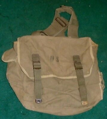 Wwii Field Pack Bag M1936 Us Military Musette Khaki Canvas Field Pack