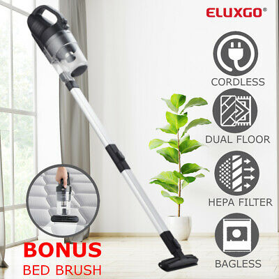 Eluxgo 2 in 1 Cordless Stick Vacuum Cleaner Handheld Bagless Cyclon Rechargeable
