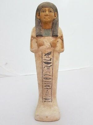 ANCIENT EGYPTIAN ANTIQUE USHABTI Statue Tomb Funerary Hand Carved Stone BC