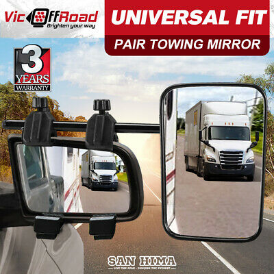2X Towing Mirrors Heavy Duty Universal Fit Towing Caravan 4X4 Trailer