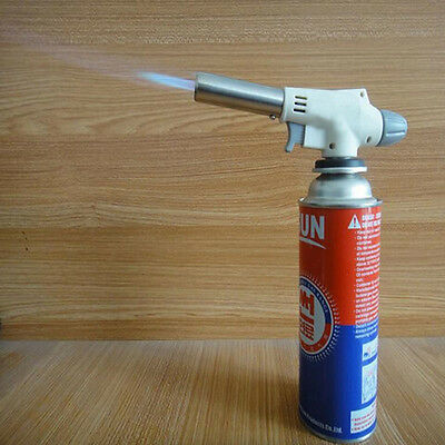 Flame thrower Burner Butane Gas Blow Torch Ignition Camping Welding BBQ Tool