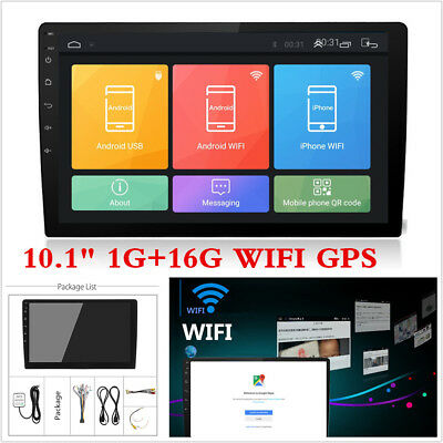 """10.1"""" Android 8.1 2Din HD Quad-Core 1G+16G Car Stereo Radio GPS Wifi Mirror Link"""