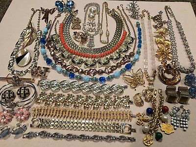 Large Lot Of Lovely Vintage COSTUME JEWELRY-Many Signed Pieces!