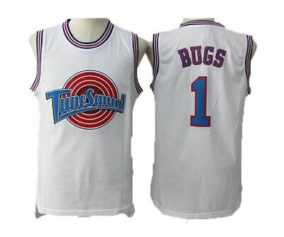Space Jam Tune-Squad Basketball Jersey Bugs Bunny #1 Lola #10 White Stitched
