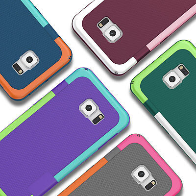 Armor Hybrid Shockproof Rugged Rubber Hard Case Cover for Samsung Galaxy S7 Edge