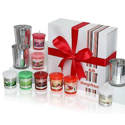 Luxurious Scented Candle Gift Set By The Gift Box. Comprises 8 Different And 3