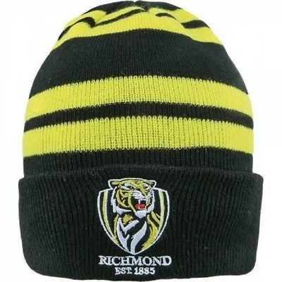 """Richmond Tigers Official AFL Adults Youths """"Wozza"""" Beanie"""