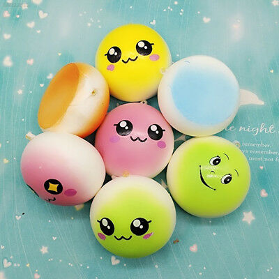 A816 Colorful Emoji Bread Squeezing Emoji Squeeze Doll Bag Pendant Hand Gadgets