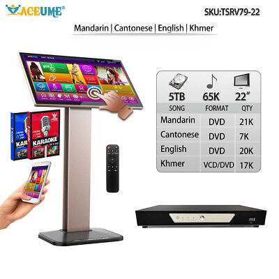 5TB HDD 65K Chinese+English+Khmer/Cambodian Songs,Touch Screen Karaoke Player