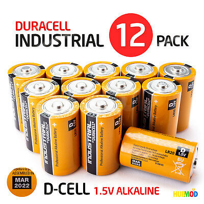 New Lot Of 12 Duracell Industrial D Cell Professional Alkaline Batteries Procell