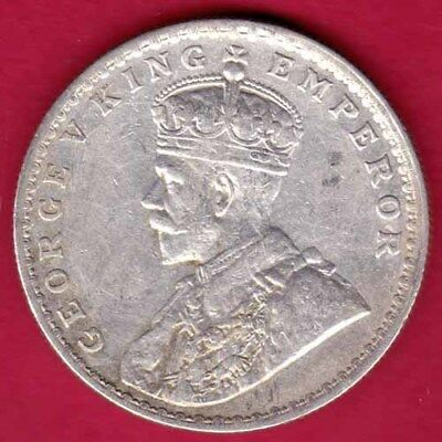 British India - 1918 - Bombay Mint - Kg V - One Rupee - Rare Silver Coin #oo1